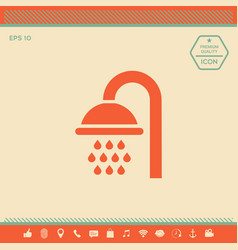 shower icon symbol vector image