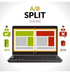 Split Testing Concept vector
