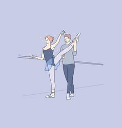 sport training practice dance concept vector image