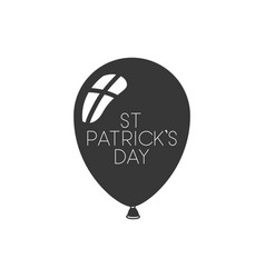 st patricks day label with balloon isolated icon vector image