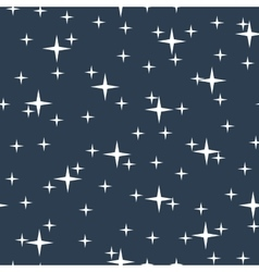 Starry night sky seamless pattern vector