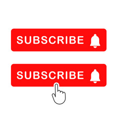Subscribe icon shape sign red button subscribe vector