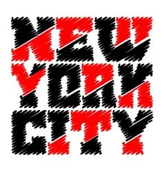T shirt typography graphics New York drawn vector