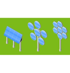three solar panels vector image