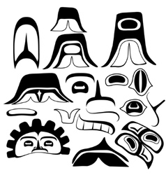 Tribal Indian art Elements vector image