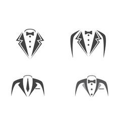 Tuxedo logo template icon vector