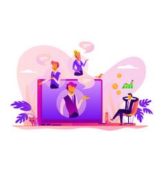 virtual sales concept vector image