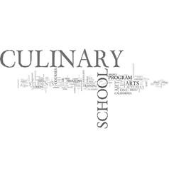 Which culinary school is right for you text word vector