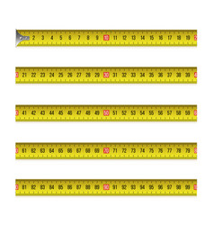 yellow measure tape flexible ruler in metal strip vector image