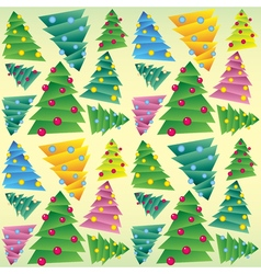 Christmas tree seamless ornament vector image vector image