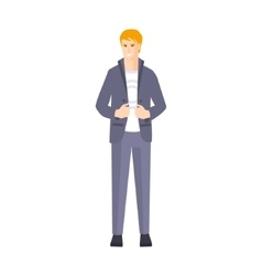 Guy In Suit With White T-shirt Part Of The vector image vector image