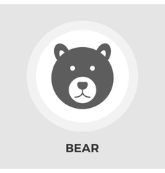 Bear Flat Icon vector image vector image