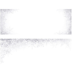 Christmas banners with crystallic snowflakes vector image vector image