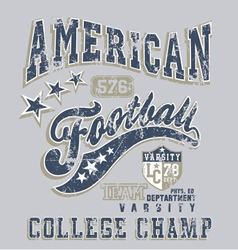 american football college champ crack vector image