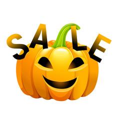 halloween pumpkin sale vector image vector image