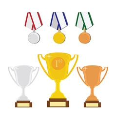 Sport award set vector image vector image