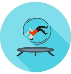 Trampoline jumping vector