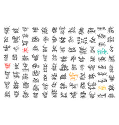 100 hand lettering inscription about autumn sale vector