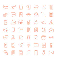 49 message icons vector image