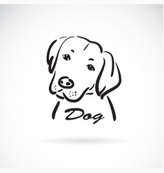 a dog head design on white background animals pet vector image
