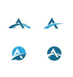 A letter bridge icon logo template vector