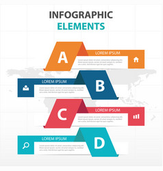 Abstract colorful banner business infographics vector