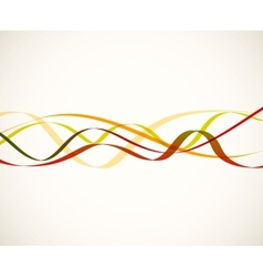 Abstract red lines vector image