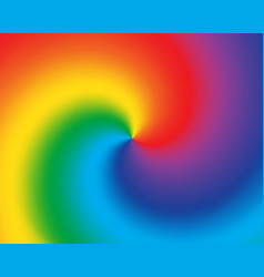abstract twist color radial gradient rainbow vector image