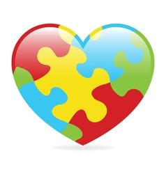 Autism Heart vector image