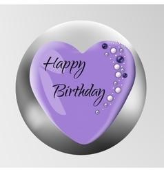 Birthday cake isolated on background vector image
