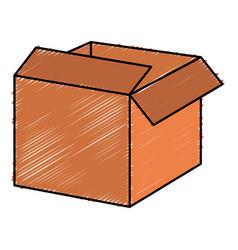 box carton delivery service vector image