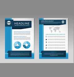 Brochure flyer design layout template A4 size vector