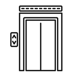 Broken elevator icon outline style vector