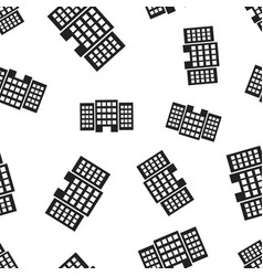 building hotel seamless pattern background vector image
