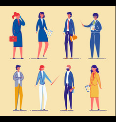 Business people or office workers managers set vector
