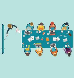 business presentation conceptual vector image