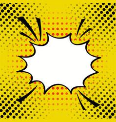 cartoon comic speech bubble in pop-art style vector image
