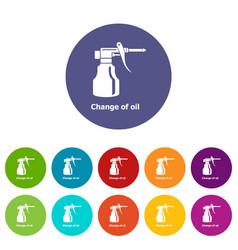 change oil icons set color vector image