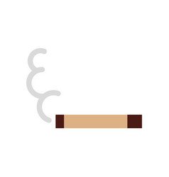 Cigarette on isolated icon vector