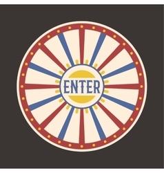 Circus vintage enter label banner vector
