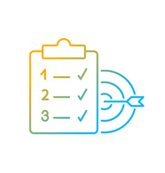 Clear goals gradient linear icon vector