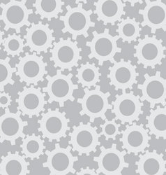 Cog wheel seamless pattern vector image