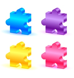 Colorful puzzle pieces vector