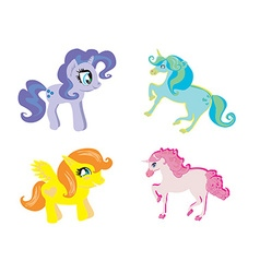 cute unicorn set vector image
