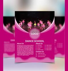 dance school flyer design vector image