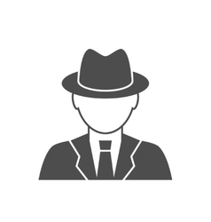 Detective avatar icon vector image