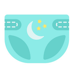 Diaper flat icon nappy and protection vector