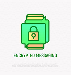 encrypted messaging thin line icon vector image