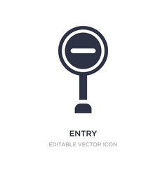 entry icon on white background simple element vector image