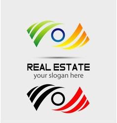 Eye logo icons vector
